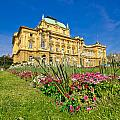 Croatian National Theatre Square In Zagreb by Brch Photography