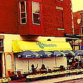 Croissanterie Figaro Parisian Bistro Sidewalk Cafe C Spandau Montreal Premier City Scene Artist by Carole Spandau