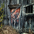 Crooked Barn - Rustic Barns Series  by Thomas Schoeller
