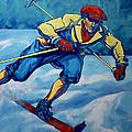 Cross Country Skier by Derrick Higgins