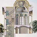 Cross Section Of The Pavilion by Pierre Jacques Goetghebuer