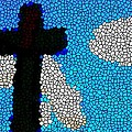 Cross Stained Glass by Bruce Nutting