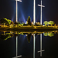 Crosses In Reflection by Andy Crawford