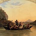 Crossing At Schreckenstein by Adrian Ludwig Richter