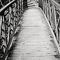 Crossing Over - Black And White by Terry DeLuco