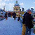 Crossing The Bridge To Saint Pauls by Jenny Armitage