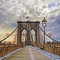 Crossing The Brooklyn Bridge II by Jerry Gammon
