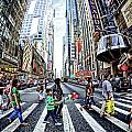 Crossing The City Street by Tina Baxter