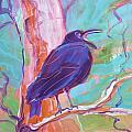 Crow In The Tree 3 by Pam Van Londen