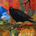 Crow On A Branch by Robin Maria Pedrero