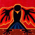 Crow Rising Original Painting by Sol Luckman