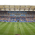 Crowd In A Stadium To Watch A Soccer by Panoramic Images