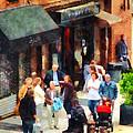 Crowded Sidewalk In New York by Susan Savad