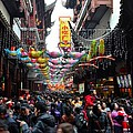 Crowds Throng Shanghai Chenghuang Miao Temple Over Lunar New Year China by Imran Ahmed