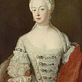 Crown Princess Elisabeth Christine Von Preussen, C.1735 Oil On Canvas by Antoine Pesne