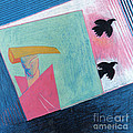 Crows And Geometric Figure by Genevieve Esson