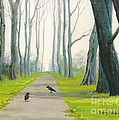 Crows On The Path by Margaryta Yermolayeva