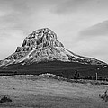 Crowsnest Mountain Black And White by Terry Fleckney