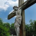 Crucifix Statue St James Cemetery Sewickley Heights Pennsylvania by Amy Cicconi