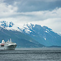 Cruise Ship In The Sognefjord In Norway by Brandon Huttenlocher