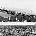 Cruise Ship Under Sf Bridge by Underwood Archives