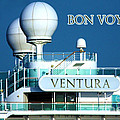Cruise Ship Ventura's Radar Domes by Terri Waters