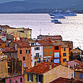 Cruise Ships At St.tropez by Elena Elisseeva