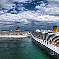 Cruise Ships Port Everglades Florida by Amy Cicconi