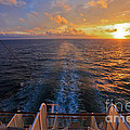 Cruising At Sunset by John Roberts