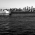 Cruising Elliott Bay Black And White by Benjamin Yeager