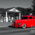 Cruising Route 66 Dwight Il Selective Coloring Digital Art by Thomas Woolworth
