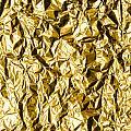 Crumpled Gold Foil by Alain De Maximy