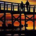 Crystal Beach Pier At Sunset II by Daniel Woodrum