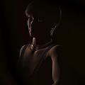 Crystal In The Dark Portrait by Judi Suni Hall