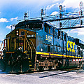 Csx 5292 Warner Street Crossing by Bill Swartwout Photography