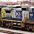 Csx Locomotive Lineup In Baltimore by Bill Swartwout Photography
