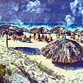 Cuban Beach by Odon Czintos
