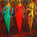 Cubism Dance II by Marina R Burch