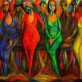 Cubism Dance  by Marina R Burch