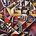 Cubist Cityscape, 1914 by Lyubov Sergeevna Popova