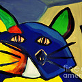 Cubist Inspired Cat  by Mindy Bench