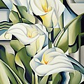 Cubist Lilies by Catherine Abel