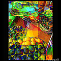 Fruit Collage Mini-print by Miriam Danar