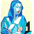 Cubistic Blue Lady by Roberto Prusso