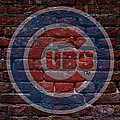 Cubs Baseball Graffiti On Brick  by Movie Poster Prints