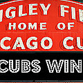 Cubs Win - Wrigley Sign by Stephen Stookey