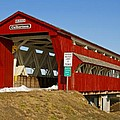 Culbertson Or Treacle Creek Covered Bridge by Jack R Perry