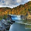 Cumberland Falls In Autumn by Mel Steinhauer