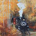 Cumbres And Toltec Railroad Steam Train by Cecilia Brendel