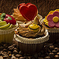 Cupcakes And Coffee Beans by Guna Andersone